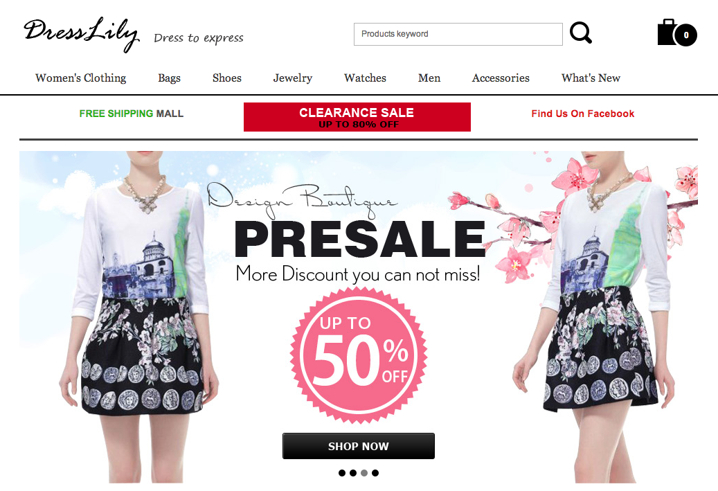 5 clothes shopping websites like dresslily goodsiteslike for Good sites for online shopping