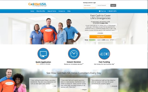 Sep 16,  · 0 7 Payday Loan Sites Like CashNetUSA. Visit CashNetUSA. Online loans have made it easier than ever to get your hands on credit. However, not all sites like CashNetUSA .