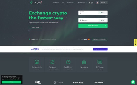 Exchange websites for cryptocurrency